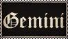 Gemini|STAMP| by RaccoonFurOfShadow