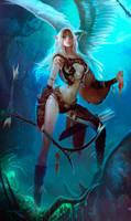 Elven Huntress by Eth0-lancer