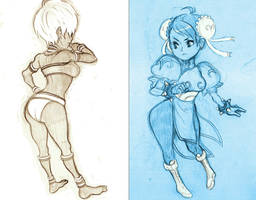 street fighter gals by damndamndrum