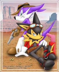 Nack and Guntz - Wild West by howlzapper