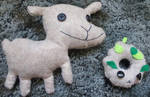Goat and Wood Sheep Plushies by outlire