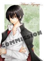 commission: Kyouya Hibari by sayuko