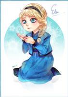 Little Elsa Disney Frozen by sayuko