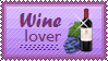 Wine Lover Stamp by mylastel