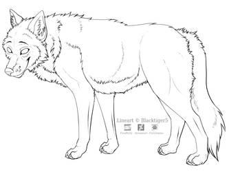 Free Wolf Line Art by Blacktiger5