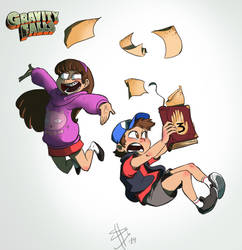 Dipper and Mabel- gravity Falls by Chocolerian