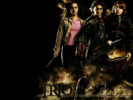 Harry Potter Trio Wallpaper by ConnieChan