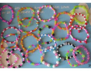 rainbow plastic bracelets by yen-hm