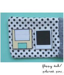 Polaroid and Floppy pins by yen-hm