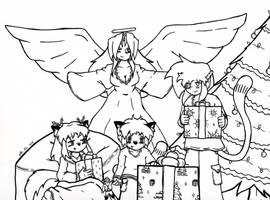 Christmas 2015- lineart by Catboy-Trades