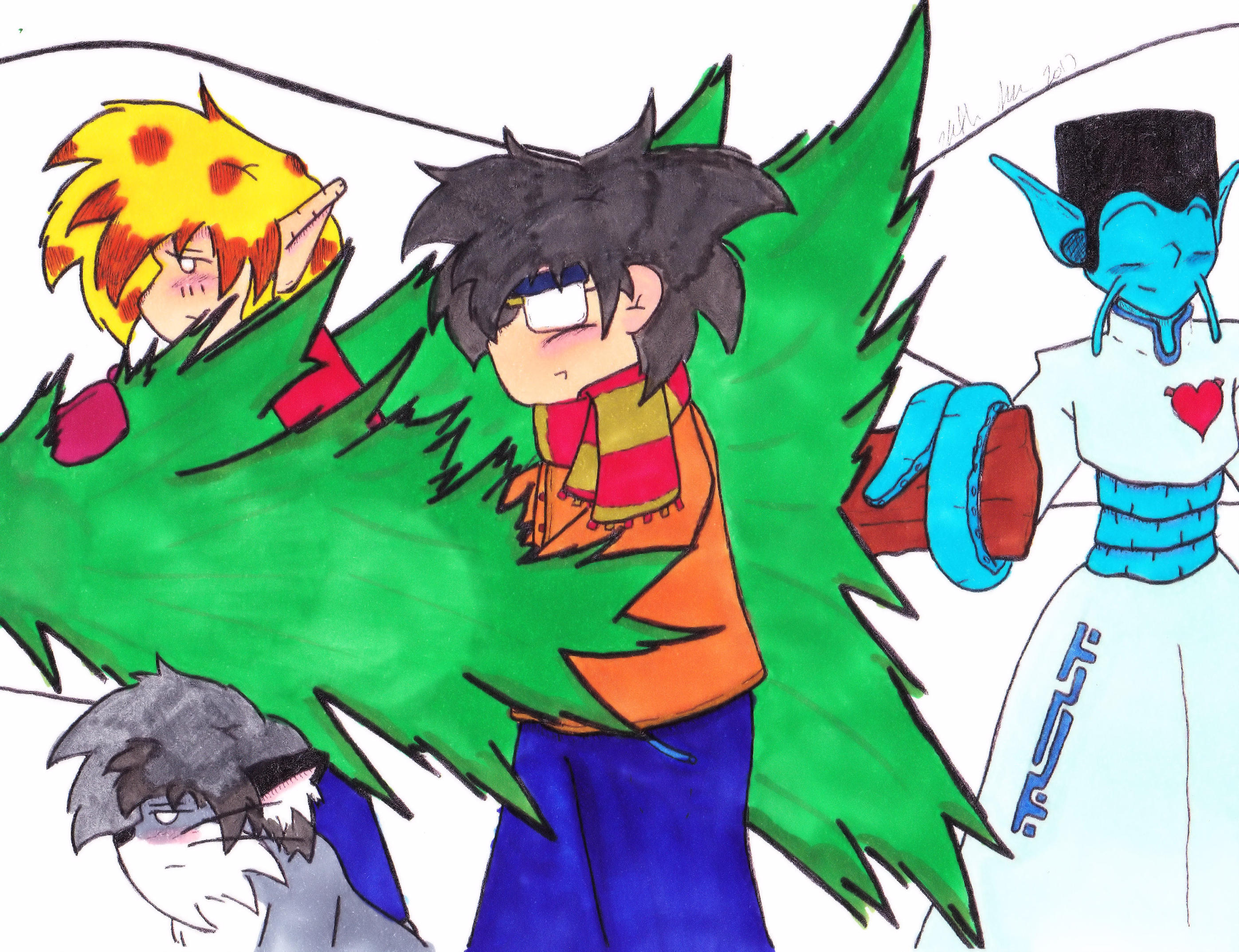 Christmas 2017 Panel 2 colored by Catboy-Trades