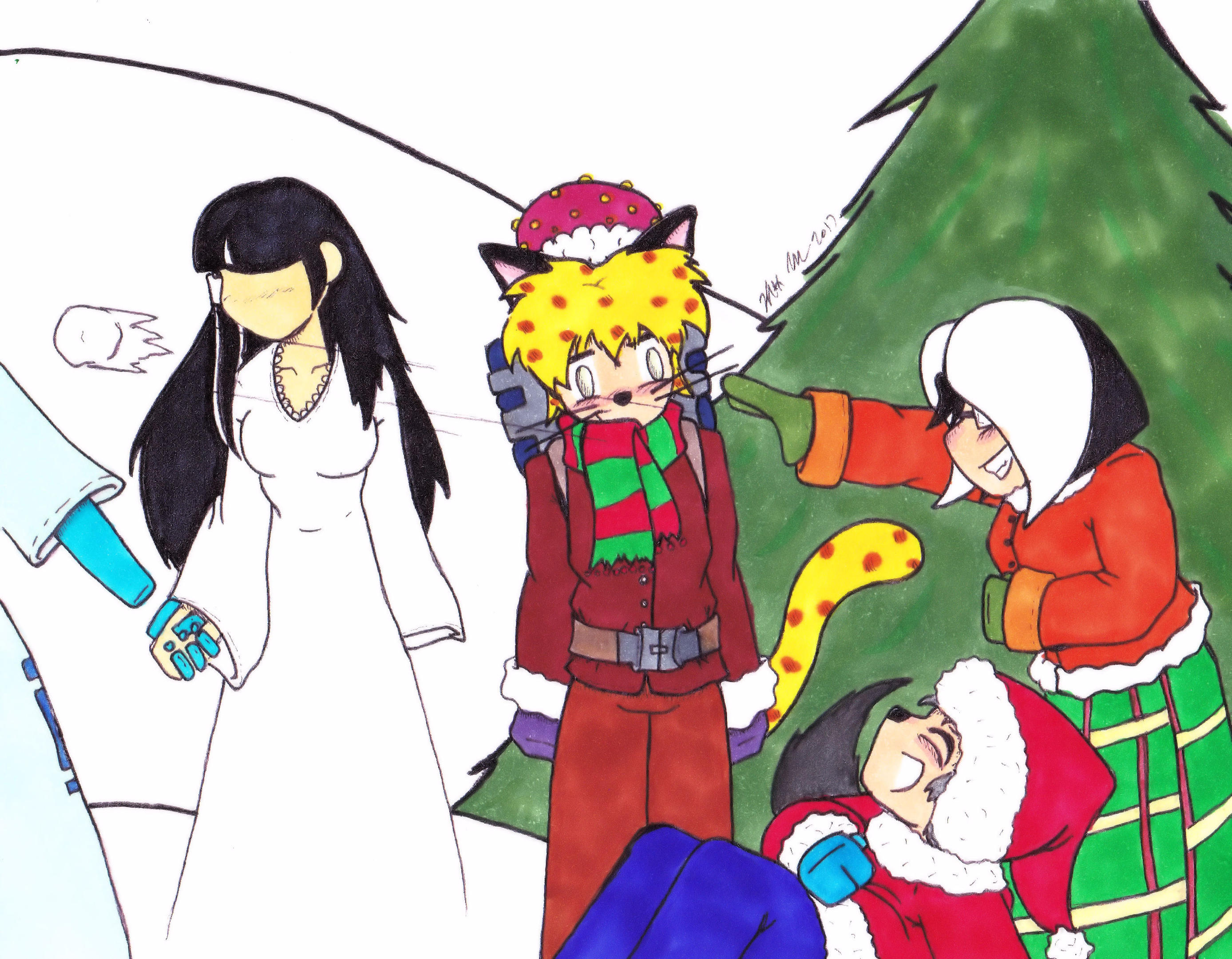 Christmas 2017 Panel 3 colored by Catboy-Trades