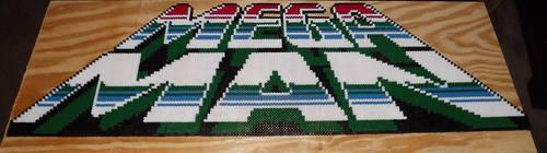 Mega Man NES Title Perler Bead by kamikazekeeg