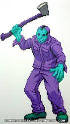 Jason Voorhees NES Perler Bead by kamikazekeeg