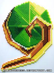 Kokiri's Emerald Perler Bead by kamikazekeeg
