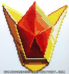 Goron's Ruby Perler Bead by kamikazekeeg