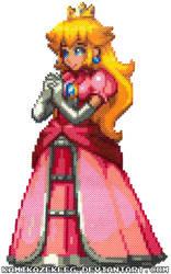 Princess Peach Perler Beads by kamikazekeeg