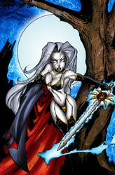 Lady Death by Bill Maus by billmausart