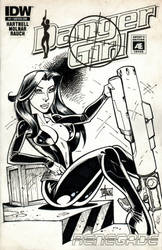 Danger Girl sketch cover 3 of 3 by billmausart