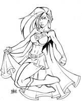 Supergirl Sketch by Bill Maus by billmausart