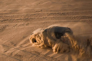 Jeep Fighting the Sand Dome by amai911