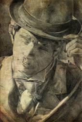 Pencil portrait by Enmascarada