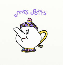 Disney Challenge #6: Mrs Potts by thepurpleboss