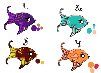 Fish Adoptables (OPEN OTA) by thepurpleboss