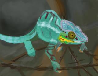 Chameleon Study by Justyne