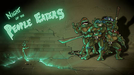 Ninja Turtles vs. Zombies (title card) by RatGnaw