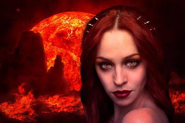 Fire Queen da by FoxyD16