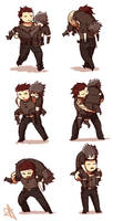 6 Ways of Carrying a Sleepy Prince by cocosnowlo
