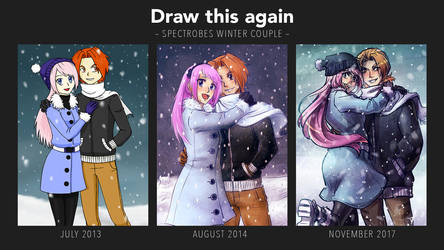 Draw this again: Vacation in white (comparison) by cocosnowlo