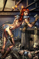 Red Sonja colored by orphanshadow