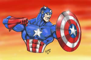 Captain America Color tribute a Joe mad by pollomaxx