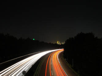 Motorway at night by darkskyz