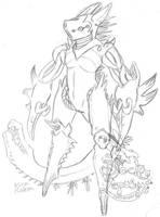 skeches Rakon Evil by Black-Lepus