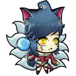 Ahri chibi vers. (League of Legends) by Happeter