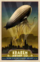 Steampunk Vintage Travel Poster - Rosendahl by zombie2012