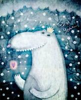 polar bear by allway