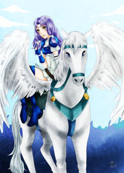 Florina, Pegasus Knight by Haru-Shonta