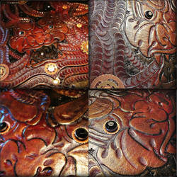 Leather Demon Tooling by BadLukArt