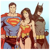 Trinity Dc Comics by SPIDERLAL