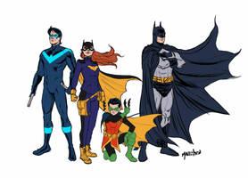 Batfamily sketch by SPIDERLAL