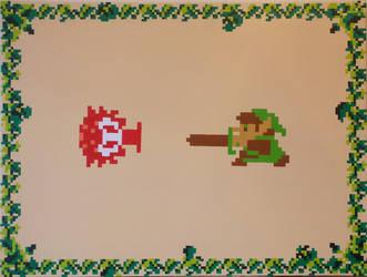 Link and Octorok by PixelArtPaintings