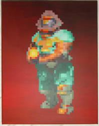 Doom Marine by PixelArtPaintings