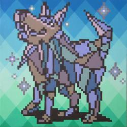 Diamond Dog by PixelArtPaintings