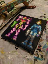 Samuses (Metroid Zero Mission) by PixelArtPaintings
