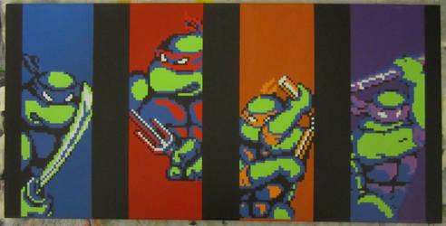 TMNT Pixel Painting by PixelArtPaintings
