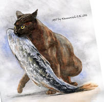fish not much happens! by Animal75Artist